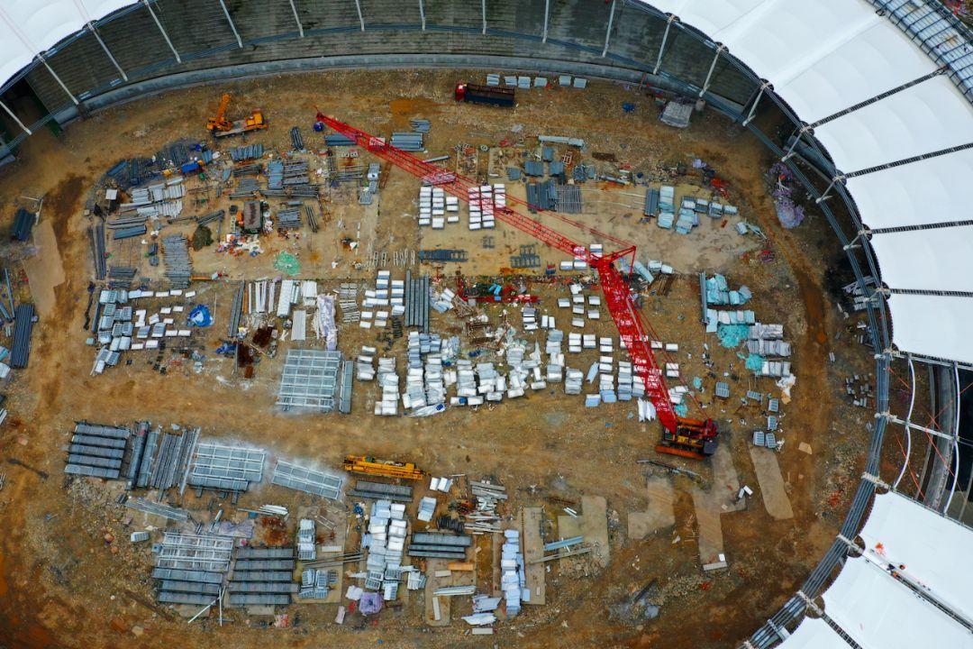 进度条达81%!乐山奥林匹克体育中心已见雏形